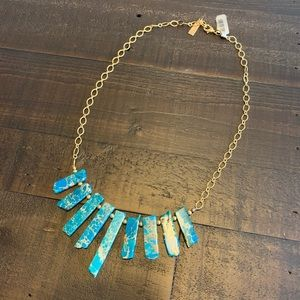 Handmade Gold and Turquoise Necklace
